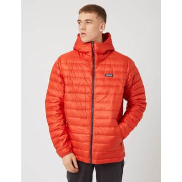 Patagonia Down Sweater Hooded Jacket - Hot Ember Red