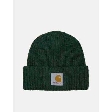 Carhartt-WIP Anglistic Beanie Hat - Speckled Grove Green