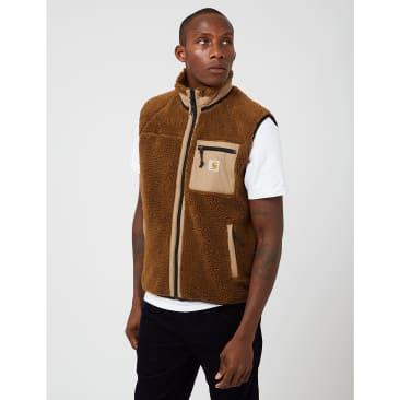Carhartt-WIP Prentis Vest Fleece Liner - Tawny Brown/Leather