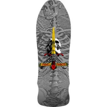 Powell Peralta Geegah Skull and Sword 9.75 Silver Reissue Deck