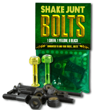 Shake Junt Bolts (1Green, 1 Yellow, 6Black) 1in. Phillips