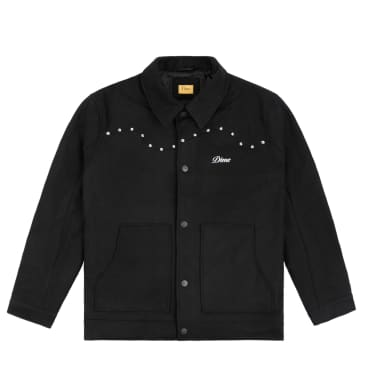 DIME STUDDED WOOL BOMBER
