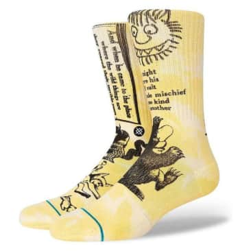 STANCE Where The Wild Things Are Terrible Socks Yellow