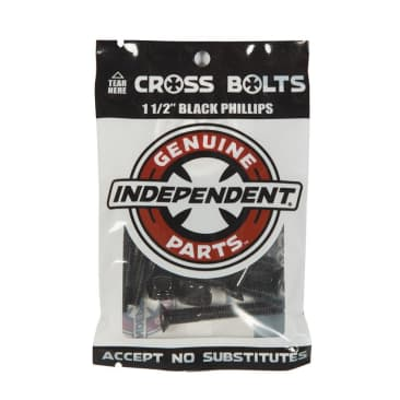 """Indy Cross Bolts Hardware - Phillps 1.25"""" Black"""