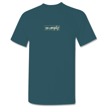 No-Comply Script Box Shirt Teal Washed Pearl