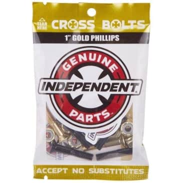 """Independent - Cross Bolts 7/8"""" Phillips Blk/Gold"""