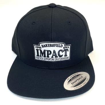 IMPACT Motto Snapback Hat Black