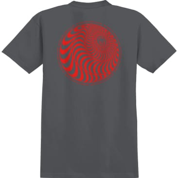 SPITFIRE Skewed Classic Tee Charcoal/Red