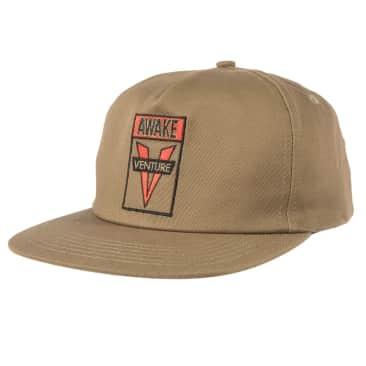 VENTURE Awake Snapback Hat Khaki/Red