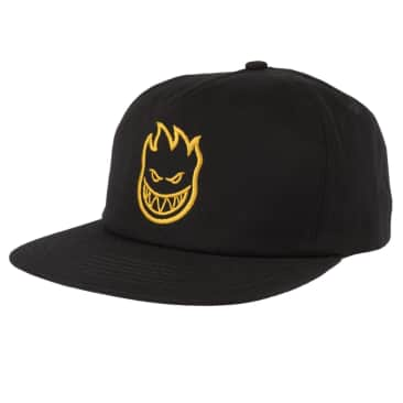 SPITFIRE Bighead Snapback Hat Black/Gold