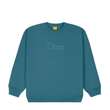 DIME Classic Outline Crewneck Real Teal