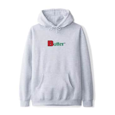 Butter Goods Bold Classic Logo Pullover Hoody Heather Grey
