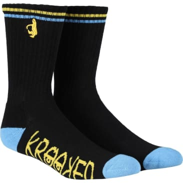 Krooked Sock Shmoo (Black/Blue/Yellow)