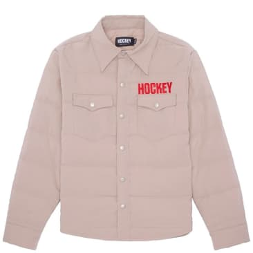 Hockey Down Snap Shirt - Khaki