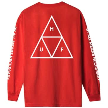 HUF Triple Triangle Long Sleeve T-Shirt - Red