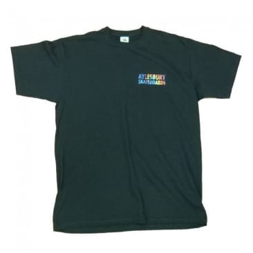Aylesbury Skateboards Tie Dye Duck Shop T-Shirt - Black