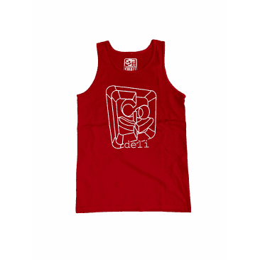DELI - 3D Wireframe Tank Top Red