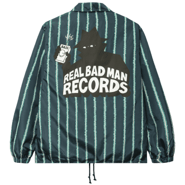 Real Bad Man RBM Records Coaches Jacket - Watermelon