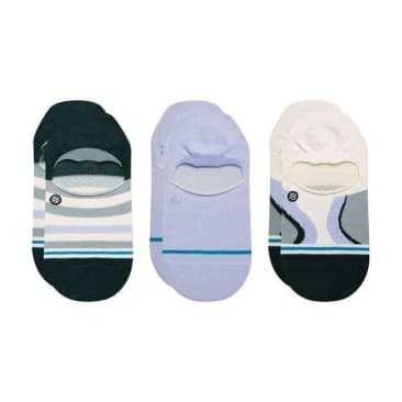 Stance Swirl 3 Pack No Show - Multi