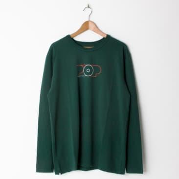 Pop Trading Company Lines Long Sleeve T-Shirt - Sports Green