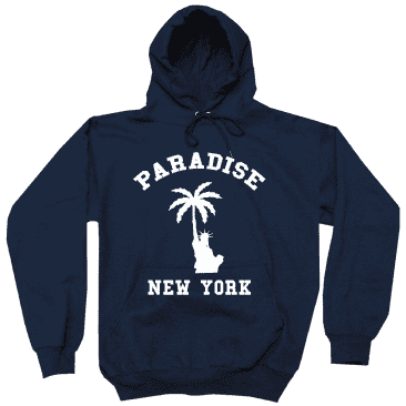 Paradise.NYC Liberty Palm Hood - Navy