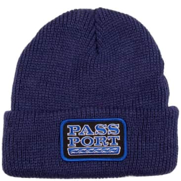 Pass-Port Auto Patch Beanie - Navy