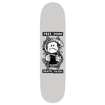 "Free Dome Skateboards - Death And Taxes Deck 8.875"" Wide"