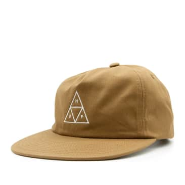 HUF Triple Triangle Unstructured Snapback Cap - Toffee