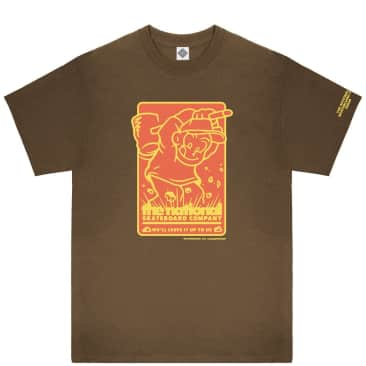 The National Skateboard Co Hook Up T-Shirt - Brown