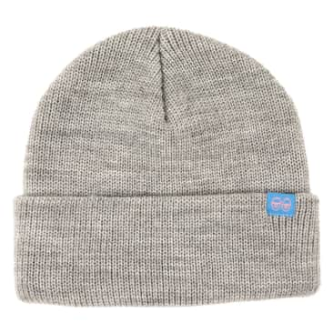 KROOKED Bean Eyes Clip Cuff Beanie Heather Grey