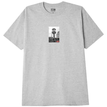 OBEY Water Tower Photo T-Shirt - Heather Grey