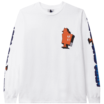 Real Bad Man Graphic Content Long Sleeve T-Shirt - White
