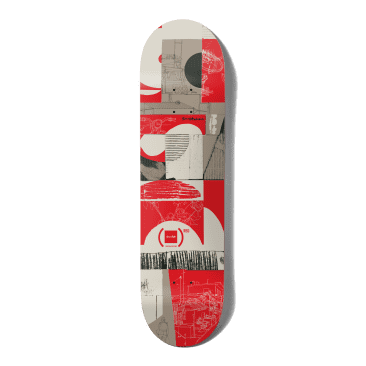 """Chocolate (RED) Kenny Anderson Skateboard Deck - 8.25"""""""