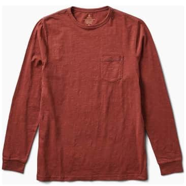 Roark Well Worn Midweight Organic LS Tee - Brown