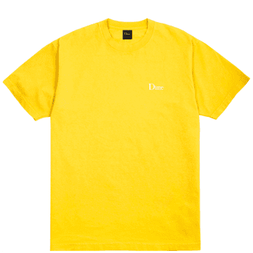 Dime T-Shirt Classic Embroidered Logo Yellow