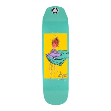 Welcome Skateboards Soil Nora Vasconcellos Pro Model On Wicked Queen Teal Dip 8.6""