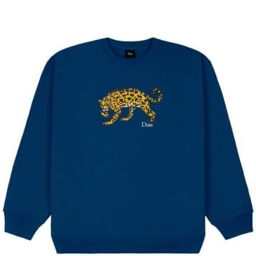 Dime Puzzle Cat Crewneck Sweatshirt - Navy