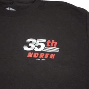 35th North Racer T-Shirt - Black / Red