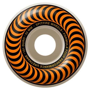 Spitfire Formula Four Orange Swirl Classics 97D Skateboard Wheels - 53mm
