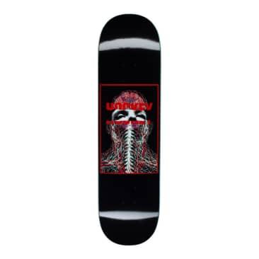 "Hockey Skateboards Nerves John Fitzgerald Black Deck 8.25"""
