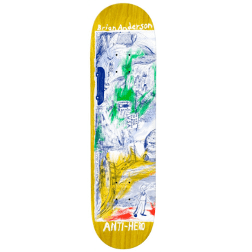"""Anti-Hero Skateboards Deck B.A. SF Then And Nown 8.4"""""""