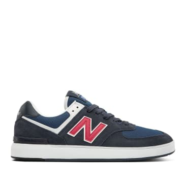 New Balance All Coasts AM574 Shoes - Navy / Red