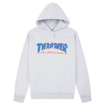 Thrasher Outlined Logo Hoodie - Ash Gray