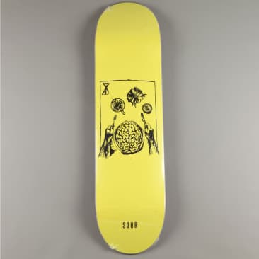 "Sour 'Brainfeast - Fluro Yellow' 8.375"" Deck"