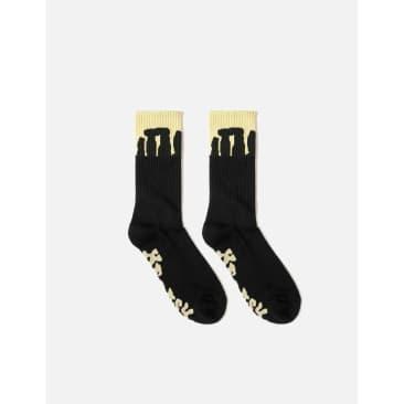 Heresy Henge Socks - Yellow / Charcoal