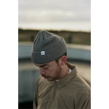 Recycled Cotton Knit Beanie Charcoal