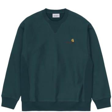 Carhartt WIP American Script Sweatshirt - Deep Lagoon