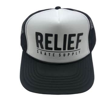 RELIEF TRUCKER HAT BLK/WHT