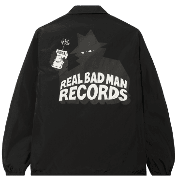 Real Bad Man RBM Records Coaches Jacket - Black