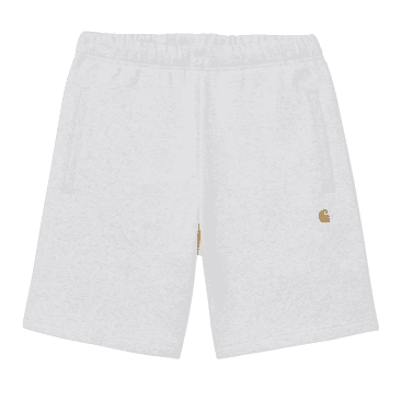 Carhartt WIP Chase Sweat Short - Ash Heather/Gold